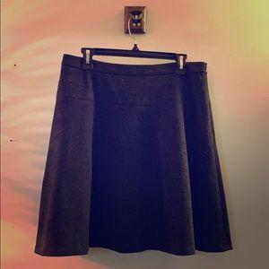 Ann Taylor Loft A-Line Gray Wool Blend Skirt